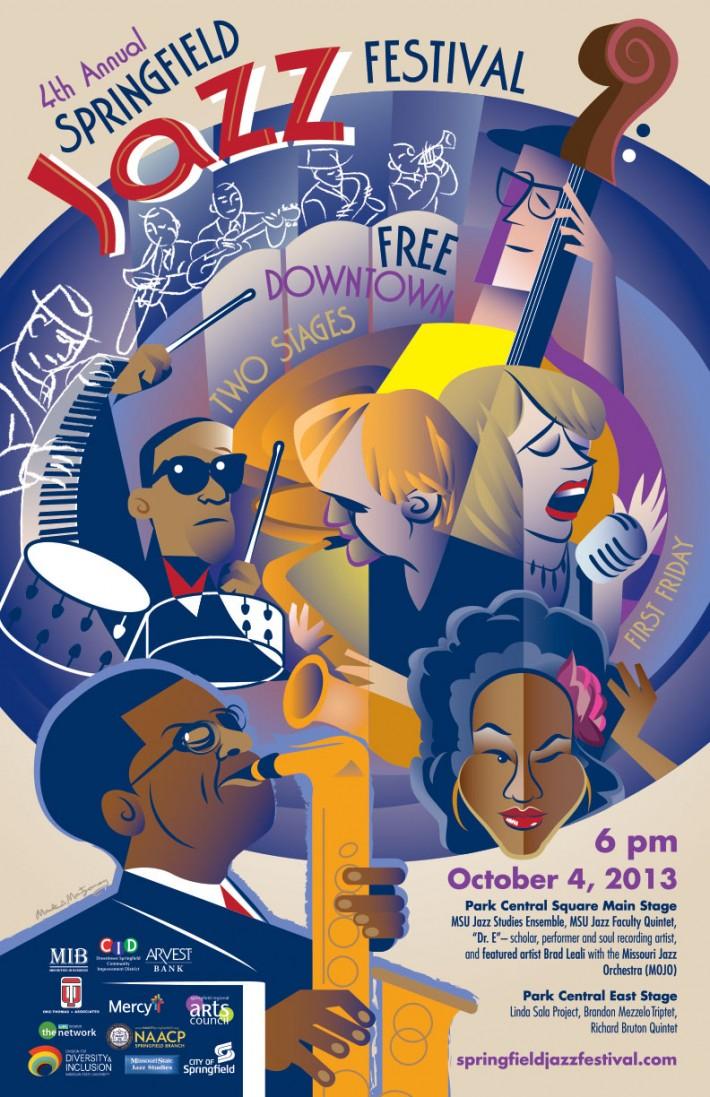 Springfield Jazz Festival Poster 2013, Regional Gold ADDY Award