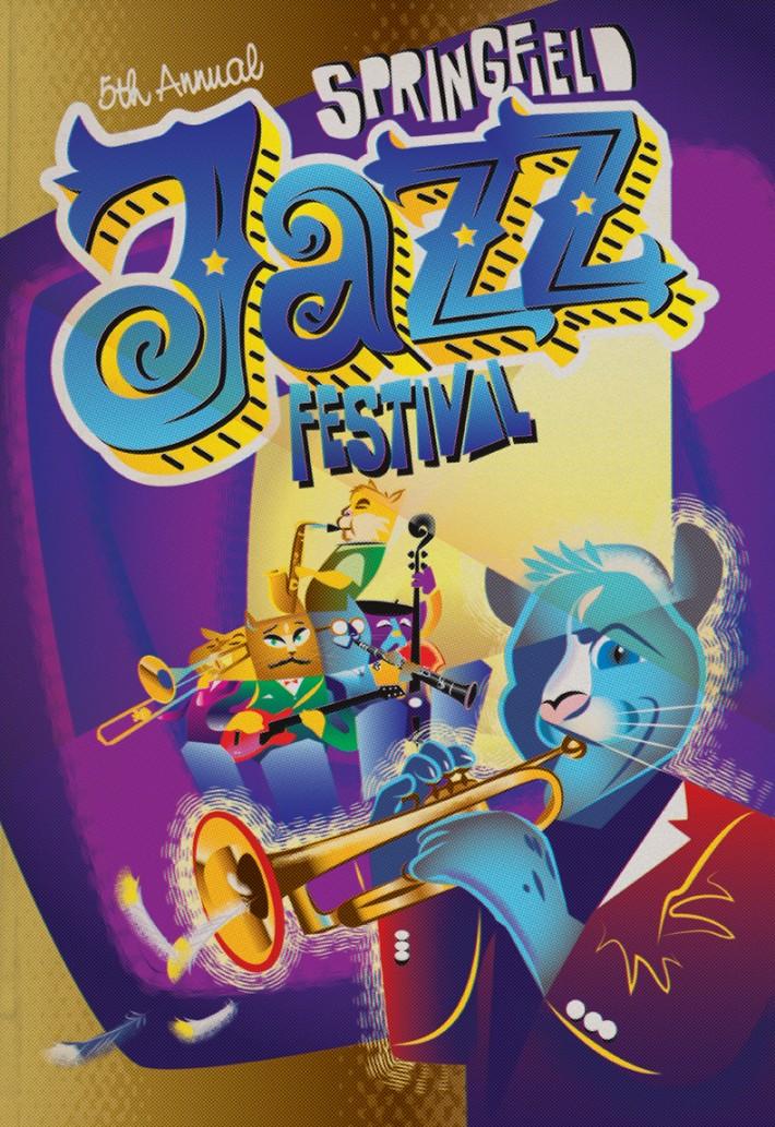 Springfield Jazz (Cat) Festival Poster 2014, Tier 1 Gold ADDY Award